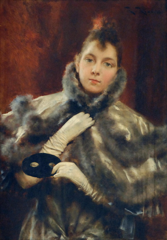 Fredolica (dona amb antifaç a la mà) de Romà Ribera.