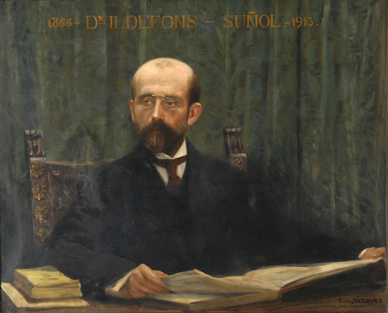 Retrat d'Ildefons Suñol de Carles Vázquez.