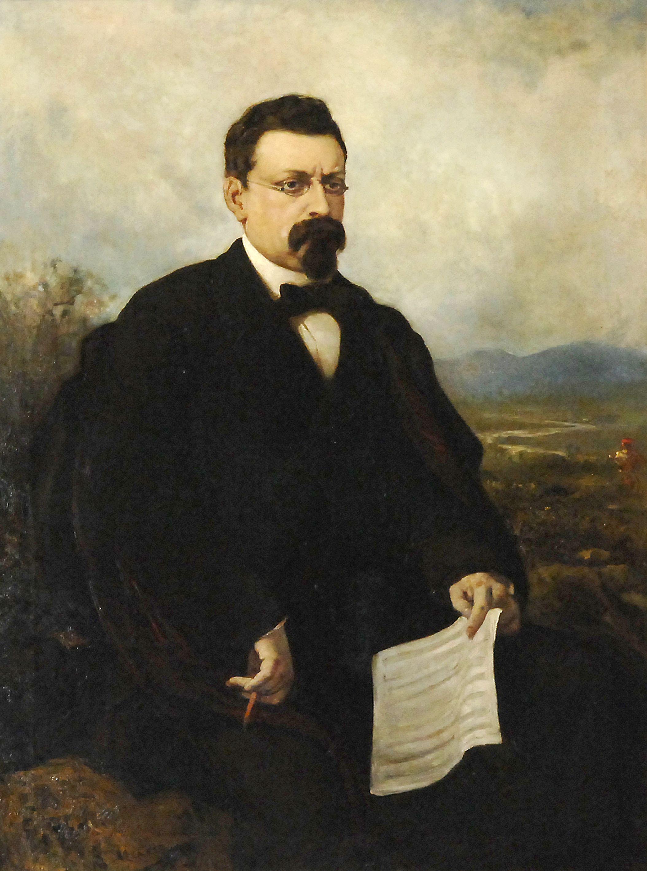 Retrat de Josep Anselm Clavé de Ramon Martí i Alsina.