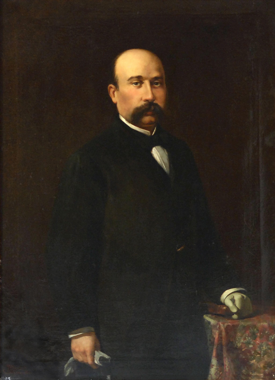 Retrat de Ramon Anglasell i Serrano de Josep Mirabent i Gatell.