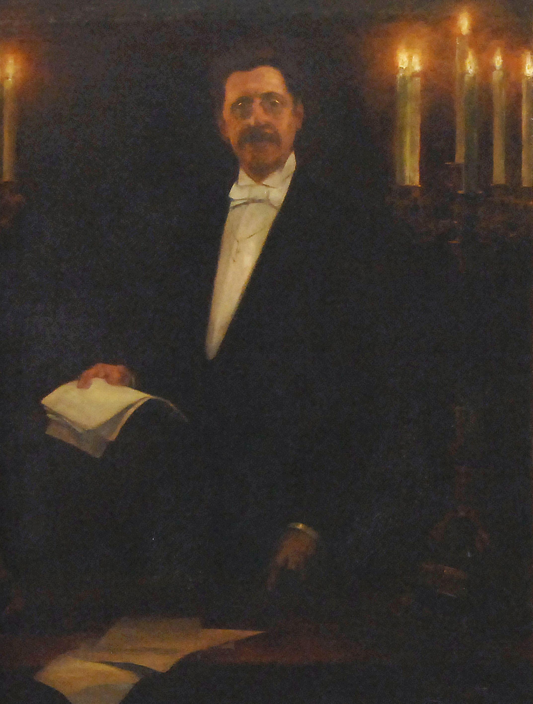 Retrat de Josep Yxart i de Moragas de Luís Graner.