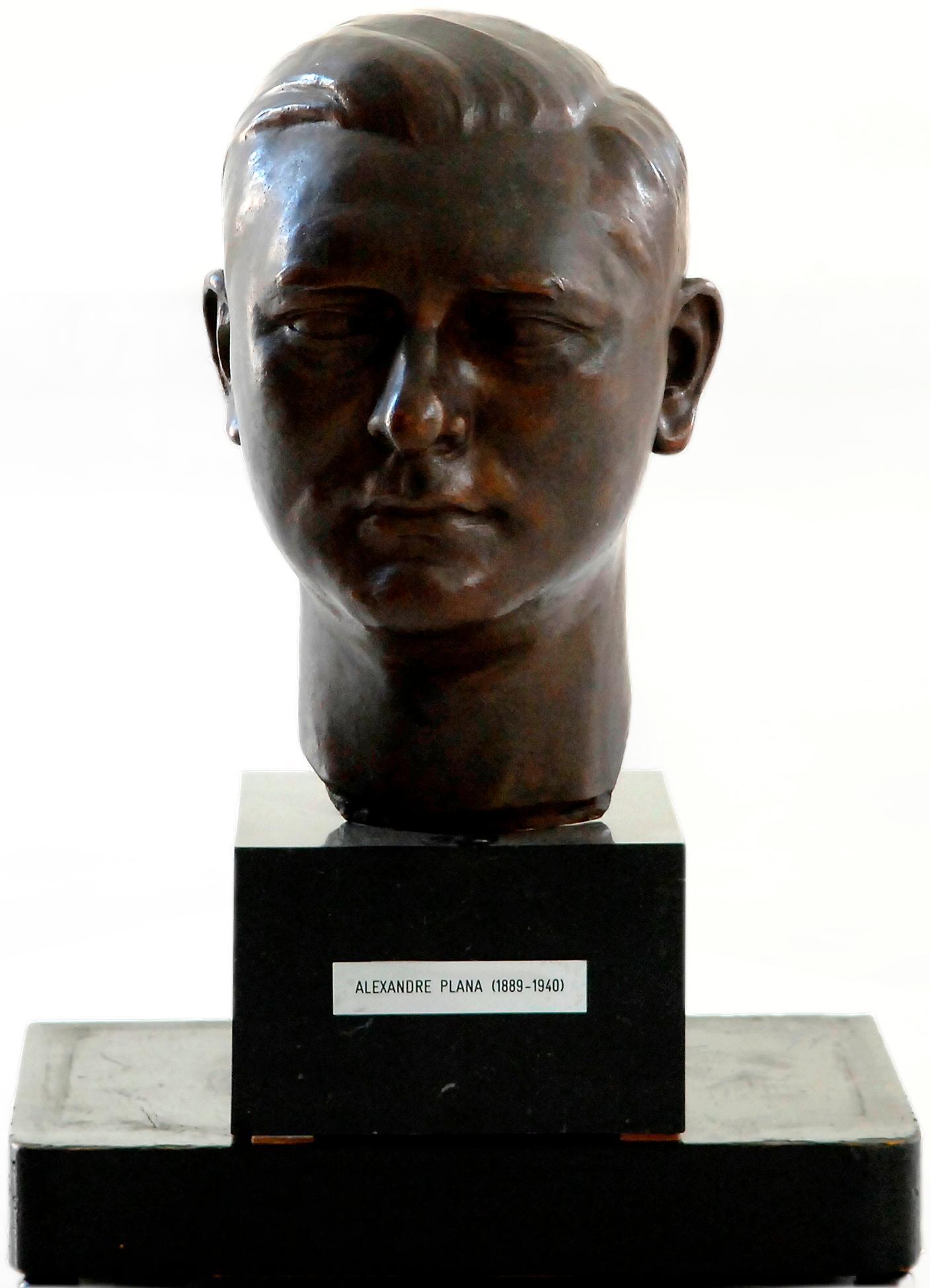 Bust d'Alexandre Plana de Josep Dunyach