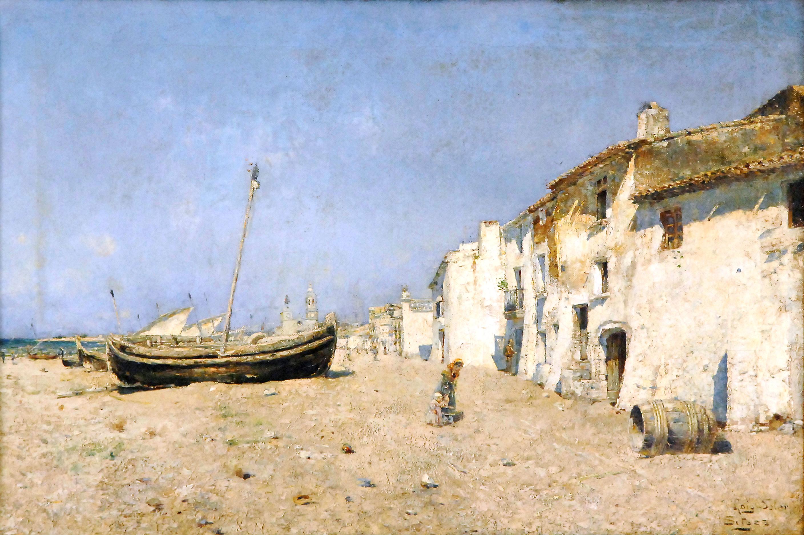 Platja de Sitges de Joan Roig Soler