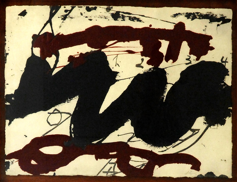 Roig i negre 2 d'Antoni Tàpies