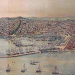 Vista panoràmica de Barcelona y de las escuadras reunidas, tomada con motivo de la Exposición Universal de 1888