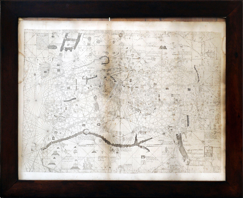 Carta portolana de la  Mediterrània de 1339 d'Angelino Dulcert.
